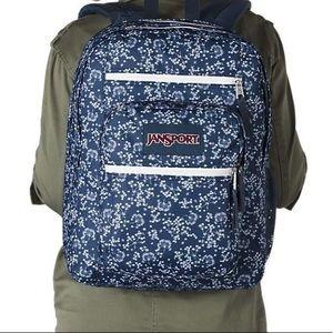 JANSPORT Big Student Navy Field Floral Backpack